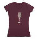 Womens Drink Red Wine Tee, Plum XXL