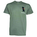 Dog is Good Never RV Alone Unisex Tee, Blue Heather Large