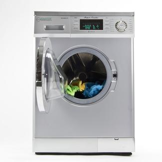 Compact Convertible Super Washer With Venting/Condensing Drying, Silver