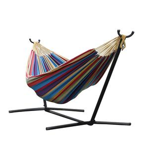 vivere u0027s  bo   double tropical hammock with stand 9ft outside rv  u003e chairs rockers  u0026 recliners  u003e hanging chairs      rh   campingworld