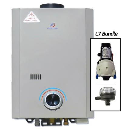Eccotemp L7 Portable Tankless Water Heater with FloJet Pump and Strainer