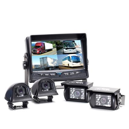 Rear View Camera System - Quad Camera Setup - Backup and Side Cameras