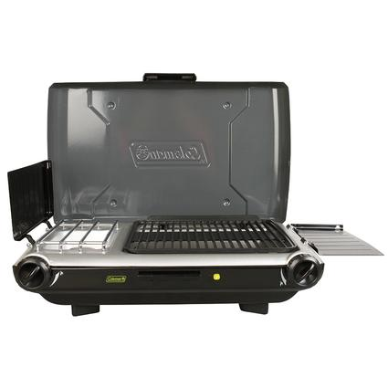 2-Burner Stove and Camp Grill Combo