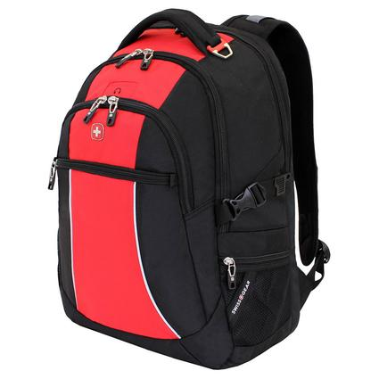 Red and Black SwissGear Bungee Backpack