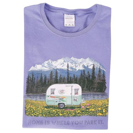 Home Is Where You Park It Vintage Trailer Tee, XXL