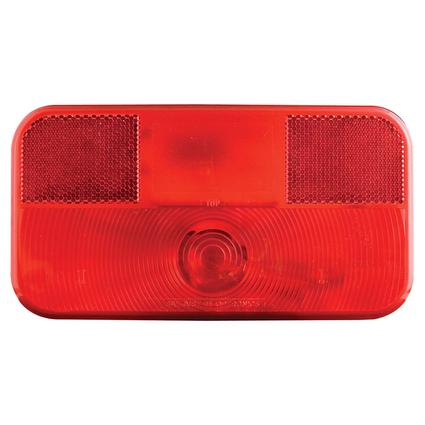 RV Stop/Tail/Turn Tail Light w/o illuminator White Base, Red