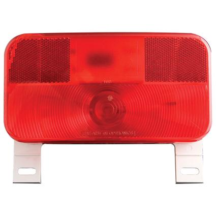 RV Stop/Tail/Turn Tail Light w/ illuminator; White Base, Red