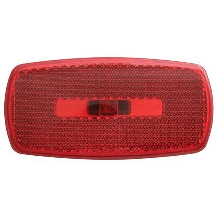 Rectangular Reflector/Clearance/Marker Light - twist-in socket Red Black Base