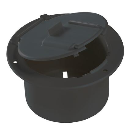 Electrical Cable Hatch—Round--Black