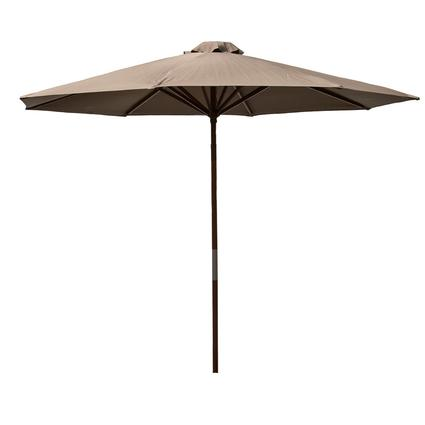 Classic Wood Market Umbrella - Brown, 9'