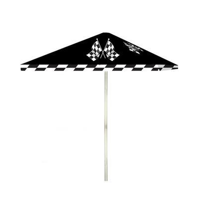 Checkered Patio Umbrella, 8'