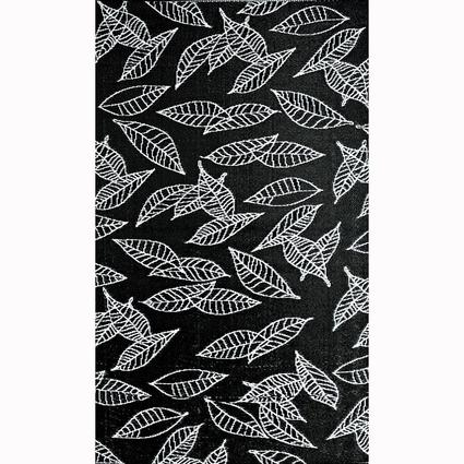 Patio Mat, Polypropylene, Leaves Design, 4x6, Artic White