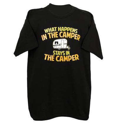 Mens In the Camper Tee, Black Medium