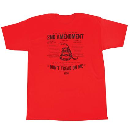 Mens Dont Tread On Me Tee, Red XXL