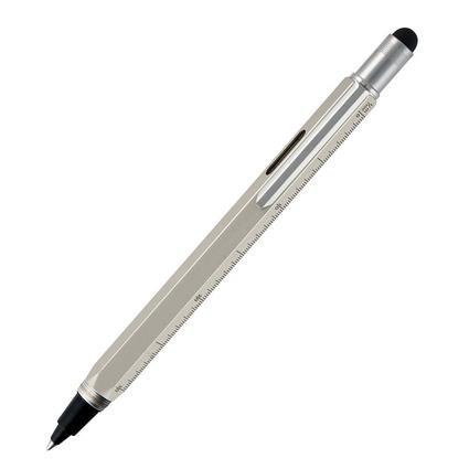 Monteverde 9 Function Metal Tool Pen, Silver