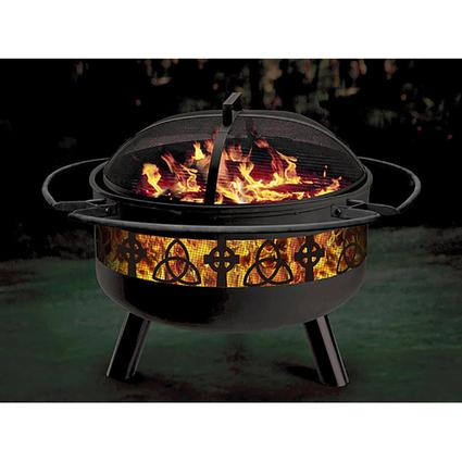 Celtic Themed Firepit/Grill Combination