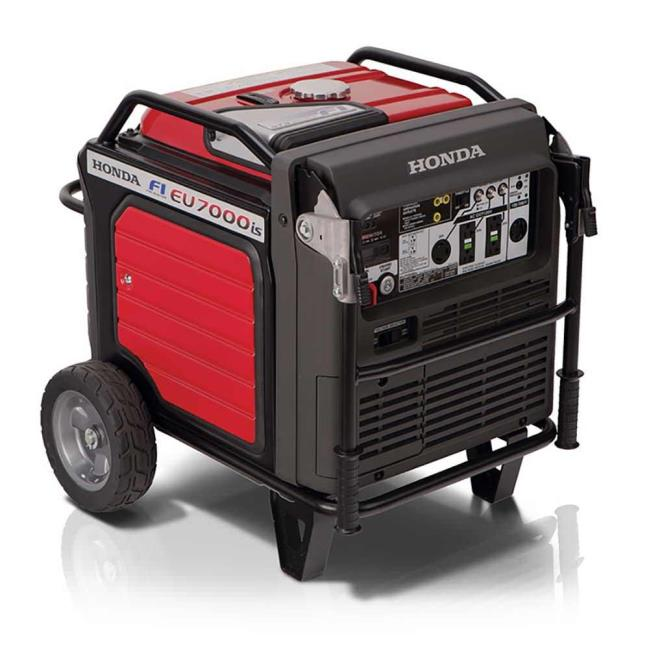 Image Honda EU7000iAT1 7,000 Watt Super Quiet Portable Inverter Generator  With Electric Start. To Enlarge .