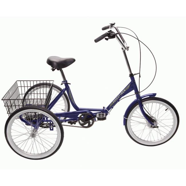 Adventurer 3-Speed Folding Trike, Blue - Direcsource Ltd 100572 ...