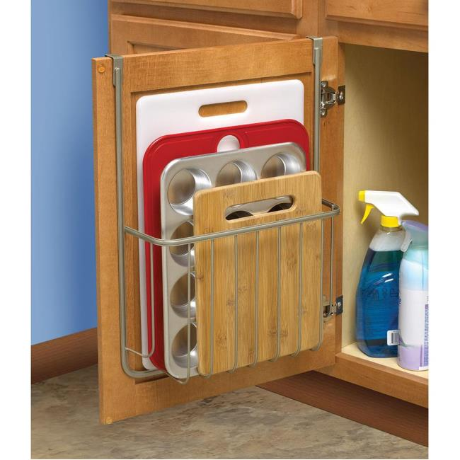Image Over Cabinet Cutting Board And Bakeware Holder. To Enlarge The Image,  Click .