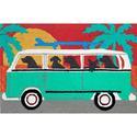 Turquoise Beach Trip Rug, 24
