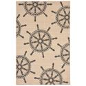 Natural Shipwheel Neutral Rug, 58