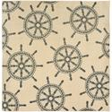 Natural Shipwheel Neutral Square Rug, 94