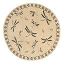Gray Dragonfly Round Rug, 7'10