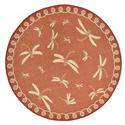Rust Dragonfly Round Rug, 7'10