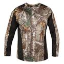 Realtree Men's Long Sleeve Active Tee, Black, Medium