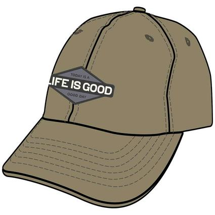 Life Is Good Today Is A Good Day Diamond Chill Cap, Wild Green
