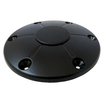 Redwood Floor Base and Cap, Black