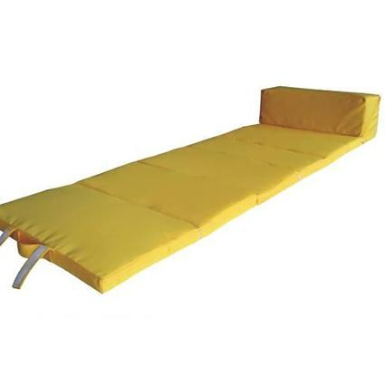 Comfortable Roll Up Lounger, Yellow