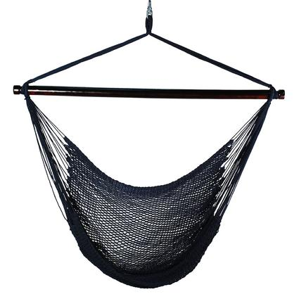 Hanging Caribbean Rope Chair, Blue