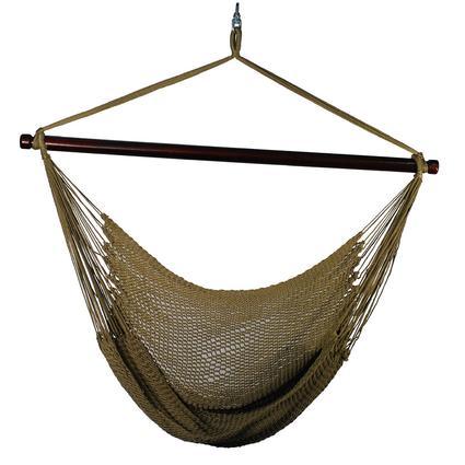 Hanging Caribbean Rope Chair, Brown
