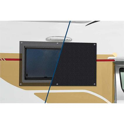 Carefree Window Cover, Black Full View Vinyl Mesh