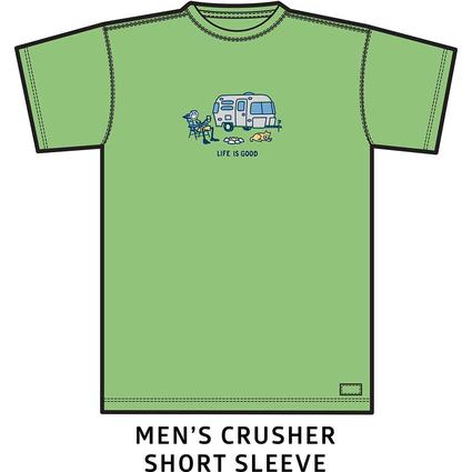 Men's Life Is Good Airstream Chill Crusher Tee, Fern Green, Large