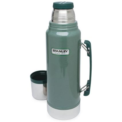 Stanley Stainless Steel Classic Vacuum Bottle with Heavy Duty Handle, 1.1 Qt,