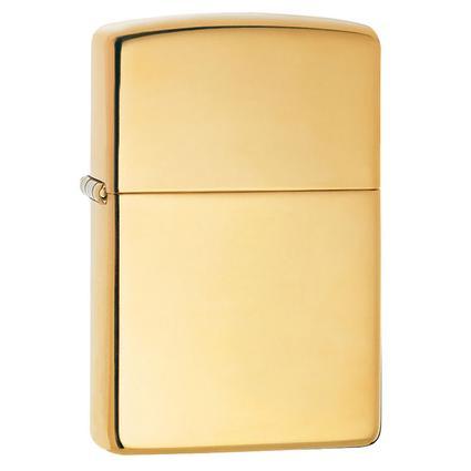 Regular Pure Series Zippo Lighter, Brass Finish
