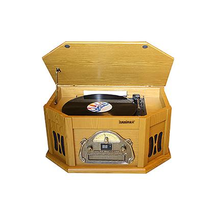 7-in-1 Classic Vintage Turntable/CD, Walnut