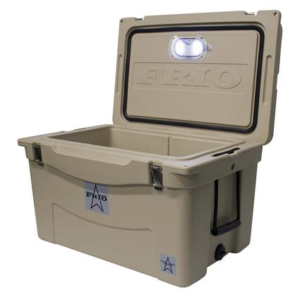 Frio Hard Side Ice Chest, Tan, 45 Qt.