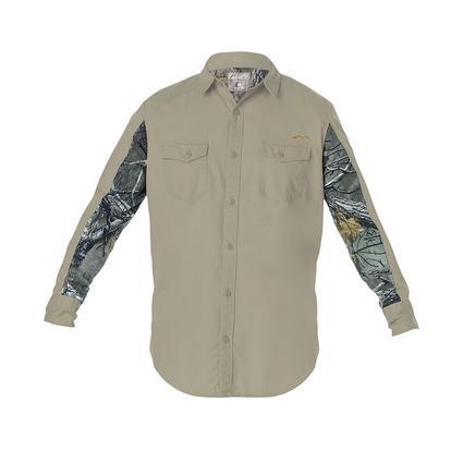 Realtree Men's Ripstop Long Sleeve Shirt, Covert Green, Medium