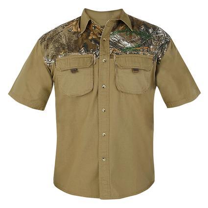Realtree Men's Ripstop Camp Shirt, Covert Green, Medium