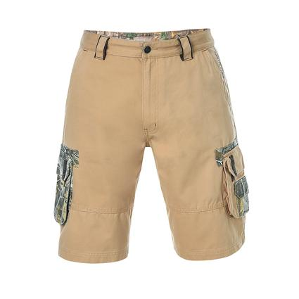 Realtree Men's Twill Cargo Short, Candied Ginger, 32x32