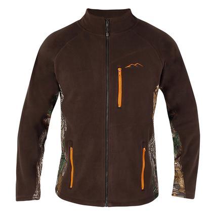 Realtree Men's Full Zip Microfleece Jacket, Greige, Large