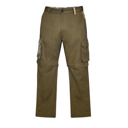 Realtree Men's Ripstop Zip-Off Cargo Pant, Covert Green, 42x32