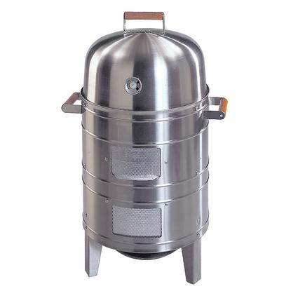 Southern Country Charcoal Smoker, Stainless Steel