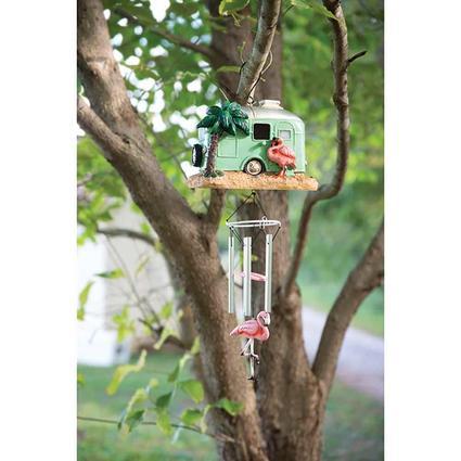 Retro Trailer Windchime Birdhouse