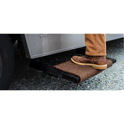 Premium Wrap Around RV Step Rug, 23, Brown