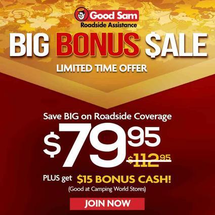1 Year of Good Sam Roadside Assistance $79.95