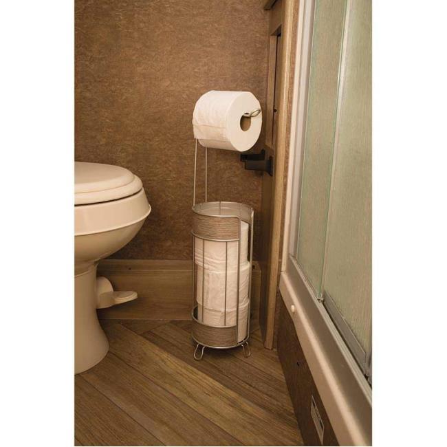 Roll Stand Plus, Wood Finish - Interdesign 90176 - Bathroom ...